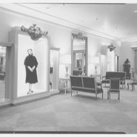 Bonwit Teller, business in Cleveland, Ohio. View to niches, second floor