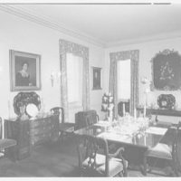 Charles E. Dunlap, residence at 102 E. 73rd St., New York City. Dining room