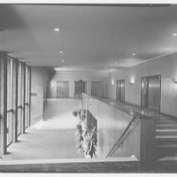 Congregation Sons of Israel, Woodmere, Long Island, New York. Foyer, two levels