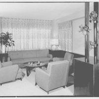 E. Glucker, residence at 11 Riverside Dr., New York City. Living room, general