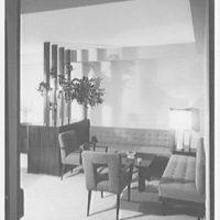 E. Glucker, residence at 11 Riverside Dr., New York City. Living room, to bridge corner