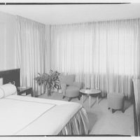 E. Glucker, residence at 11 Riverside Dr., New York City. View to bedroom