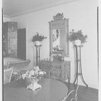 Elizabeth Draper, residence at 840 Park Ave., New York City. Table and dresser
