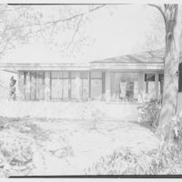 Frederick Greenberg, residence on Sawmill Hill Rd., Ridgefield, Connecticut. Exterior VI