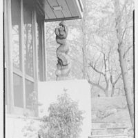 Frederick Greenberg, residence on Sawmill Hill Rd., Ridgefield, Connecticut. Exterior corner with statue II