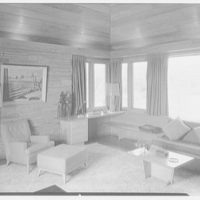 Frederick Greenberg, residence on Sawmill Hill Rd., Ridgefield, Connecticut. Living room IV