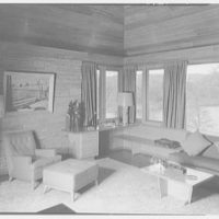 Frederick Greenberg, residence on Sawmill Hill Rd., Ridgefield, Connecticut. Living room III