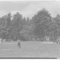 Indian Head Camp, Bushkill, Pennsylvania. Baseball field (boys)