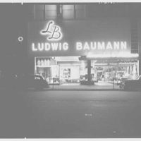 Ludwig Baumann, business in Newark, New Jersey. General exterior