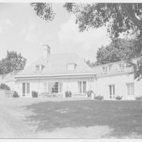 Lynde Selden, residence at Indian Field Park, Bellehaven, Greenwich, Connecticut. West facade from right