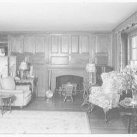 Maude K. Wetmore, residence on Route 137, Bedford, New York. Pine room I