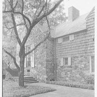 Maude K. Wetmore, residence on Route 137, Bedford, New York. Terrace detail