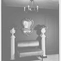 Milton Rackmil, residence at 140 Riverside Dr. Detail of urns on pedestals