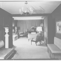 Milton Rackmil, residence at 140 Riverside Dr. General view of living room