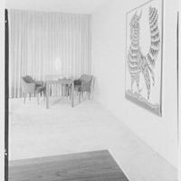 Mr. David Owen, residence at 36 Sutton Place, New York City. View to backgammon table and cock