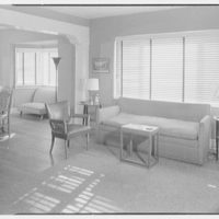 Mr. Meade, residence in Atlantic Beach, Long Island, New York. View to dining section