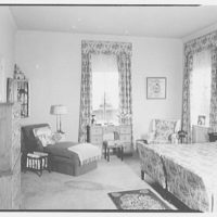 Mrs. Julian Bach, residence at 33 E. 70th St., New York City. Bedroom