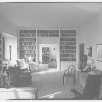 Mrs. Julian Bach, residence at 33 E. 70th St., New York City. Living room II