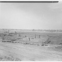 New Jersey Turnpike Authority. Concession station site 10N, looking west, Woodbridge, New Jersey