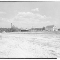 New Jersey Turnpike Authority. Toll Plaza I looking east and including shanty, Deepwater, New Jersey