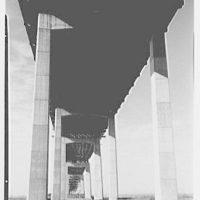 New Jersey Turnpike. Hackensack Run bridge, from center under arches
