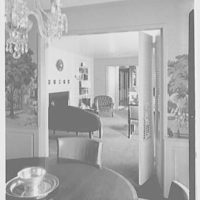 Prisant Properties, Great Neck, Long Island, New York. Larry Richmond, from dining room to living room