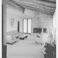Prisant Properties, Great Neck, Long Island, New York. L.S. Lloyd's, living room, to fireplace