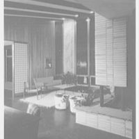 Prisant Properties, Pilot House, King's Point Rd. and Tredway Rd., Great Neck, Long Island. Living room, night
