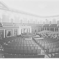 U.S. Capitol interiors. House chamber in U.S. Capitol, remodeled