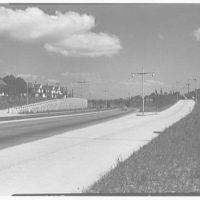 Van Wyck Express Highway, Queens, New York. Rockaway Blvd. bridge and approach