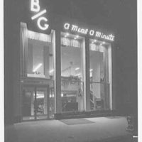 B/G restaurant, business at 16 W. 48th St. Exterior I