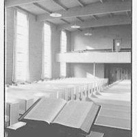 Community Church, Glen Rock, New Jersey. View from chancel