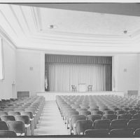 Deerfield Academy. Memorial Hall, auditorium to stage with lectern I
