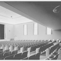 Deerfield Academy. Memorial Hall, auditorium to windows