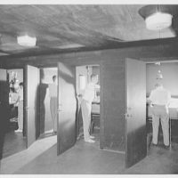 Deerfield Academy. Memorial Hall, darkroom cubicles