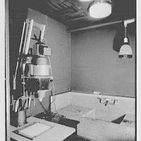 Deerfield Academy. Memorial Hall, individual cubicle, close-up