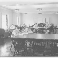 Deerfield Academy. Memorial Hall, reading and study room