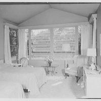 E.H. Wobbers, residence in Westhampton Beach, New York. Bedroom