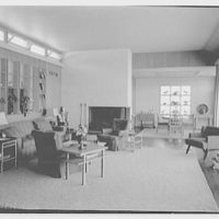 E.H. Wobbers, residence in Westhampton Beach, New York. Living room, long view