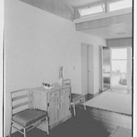 E.H. Wobbers, residence in Westhampton Beach, New York. Living room, to front door