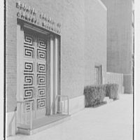 Eighth Church of Christ Scientist, E. 77th St., New York City. Entrance, detail