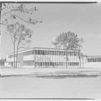 Fairchild Aircraft Corporation, Bayshore, Long Island, New York. Exterior, east facade