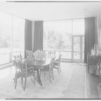 George Parkman Denny, residence on Bacon Rd., Old Westbury, Long Island. Dining room, to window