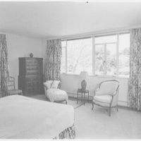 George Parkman Denny, residence on Bacon Rd., Old Westbury, Long Island. Master bedroom