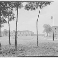 Goucher College, Towson, Maryland. Froelicher Hall, from distance