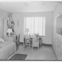 Goucher College, Towson, Maryland. Froelicher, typical bedroom