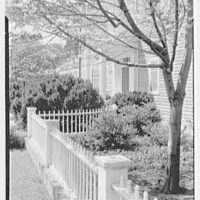 Henry E. Coe, residence in Cold Spring Harbor, Long Island. Sharp view from right