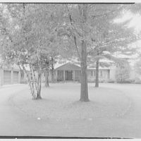 Lyman A. Beeman, residence on North Rd., Glens Falls, New York. East facade III
