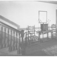 Marlpit Hall, Middletown, New Jersey. Stair hall