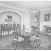 Michael Taradash, residence in Ardsley-on-Hudson, New York. Dining room, to niche